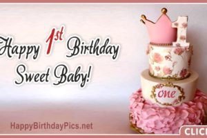 Sweet Baby First Birthday Card 1