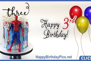 Spider-Man Third Birthday Card