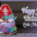 Little Mermaid Fifth Birthday Card
