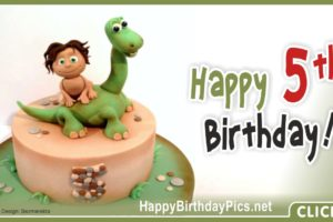 Fifth Birthday The Good Dinosaur Card