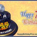 Star Wars Seventh Birthday Card