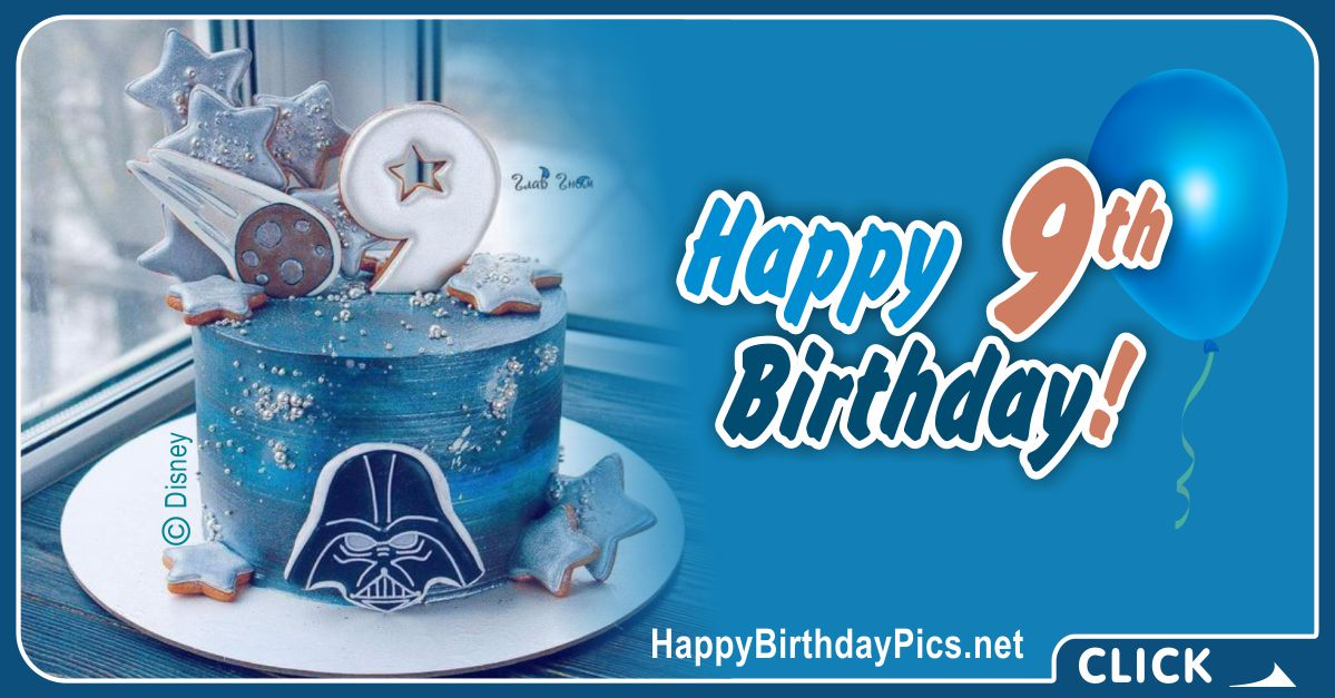 Star Wars Fan 9th Birthday Card Equivalents