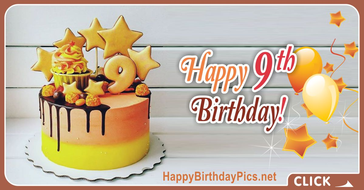 Orange Cake 9th Birthday Card Equivalents
