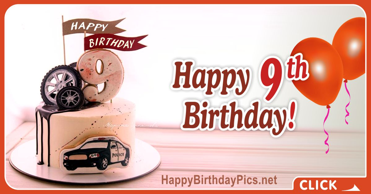 Automobile Lover 9th Birthday Card Equivalents
