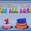 Age-Specific Birthday Cards Category 1