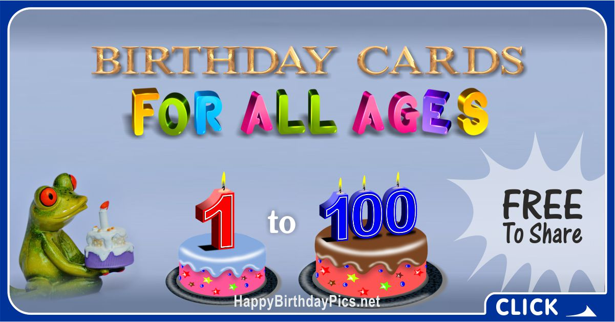 Age-Specific Birthday Cards