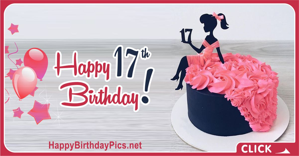 Swell 17Th Birthday Black Cake Happy Birthday Funny Birthday Cards Online Fluifree Goldxyz