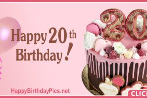 Happy 20th Birthday Pink Themed Party