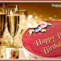 Happy Belated Birthday Cake - Champagne