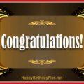 Congratulations Gold Frame