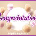 Congratulations Pastel Balloons