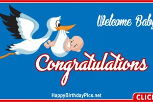 Welcome Baby Congratulations Stork