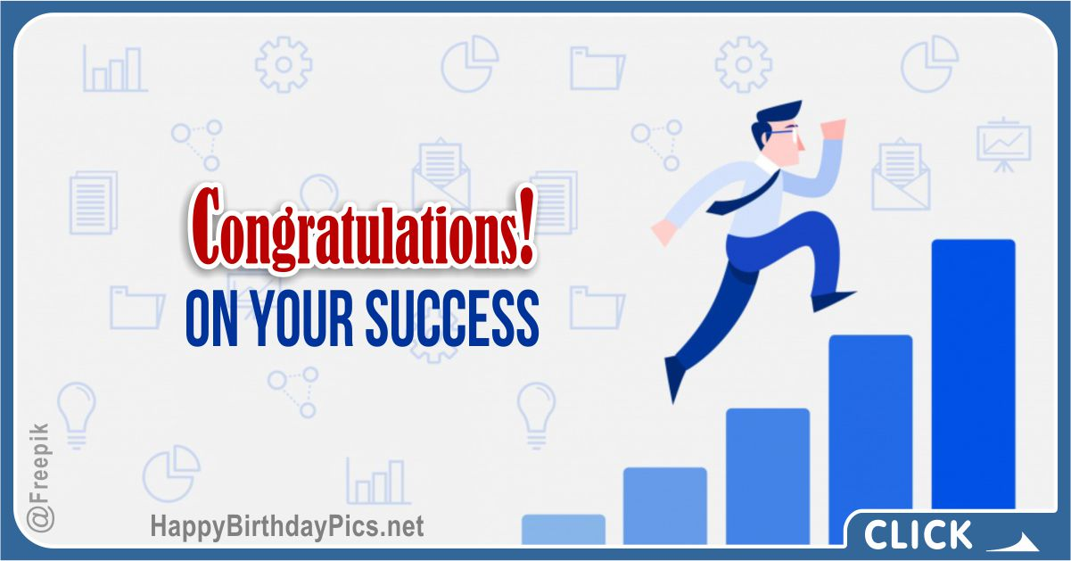 Congratulations on Business Success Card Equivalents