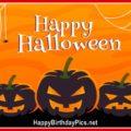 Happy Halloween Jack-o-Lantern Pumpkins