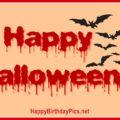 Happy Halloween Bats Drawings