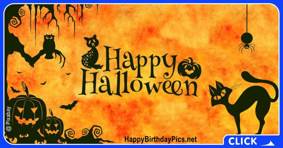 Happy Halloween Black Cats Equivalents