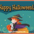 Happy Halloween with Halloween Witch