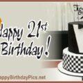 Happy 21st Birthday Black Tuxedo