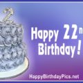 Happy 22nd Birthday with Diamonds Gemstones