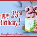 Happy 23rd Birthday to You with Pearls