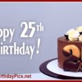 Happy 25th Birthday Cake