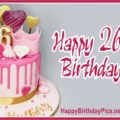 Happy 26th Birthday with Pink Theme