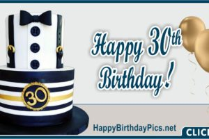 Happy 30th Birthday for Him Sailor Aviator Dress