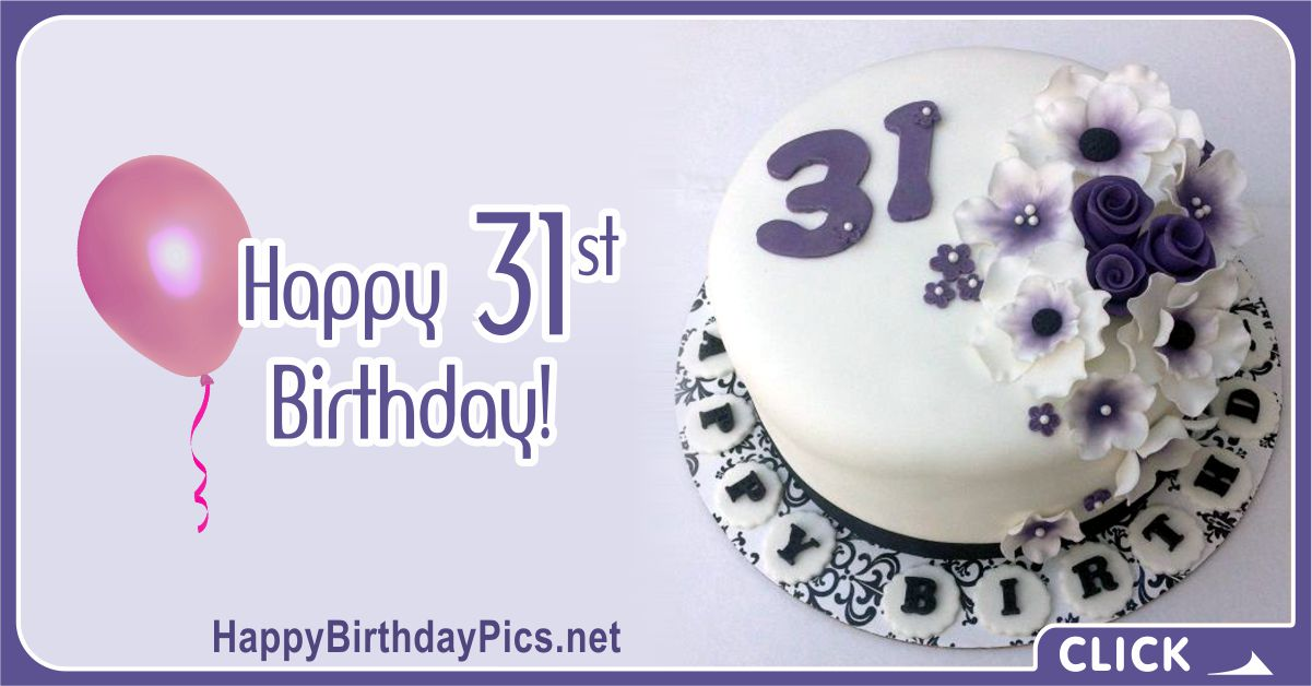 Happy 31st Birthday with Pearls in Flowers Card Equivalents