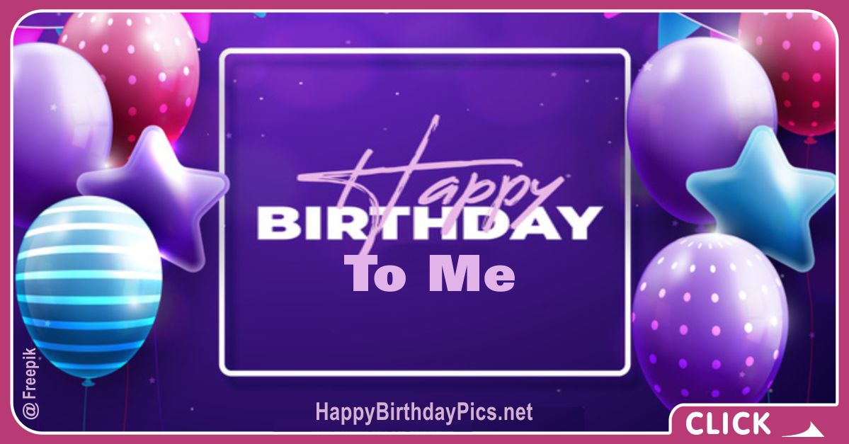 Happy Birthday to Me with Purple Balloons Card Equivalents