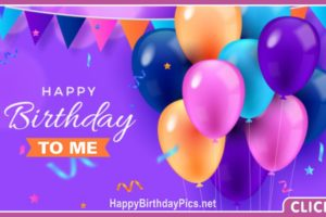 Happy Birthday to Me with Colorful Party