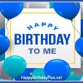 This is My Birthday with Blue Theme