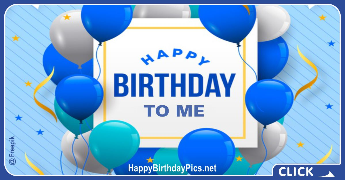 This is My Birthday with Blue Theme Card Equivalents