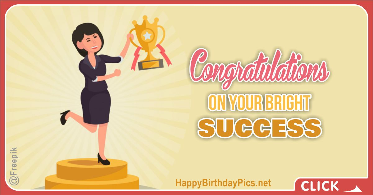 Women Power Congratulations Card Equivalents