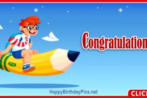 School Congratulations Card