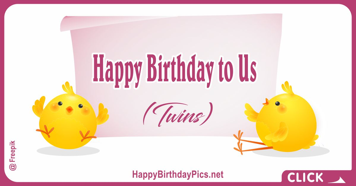Happy Birthday to Us (Twins) Card Equivalents