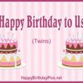 Happy Birthday to Us (Twin Cake)