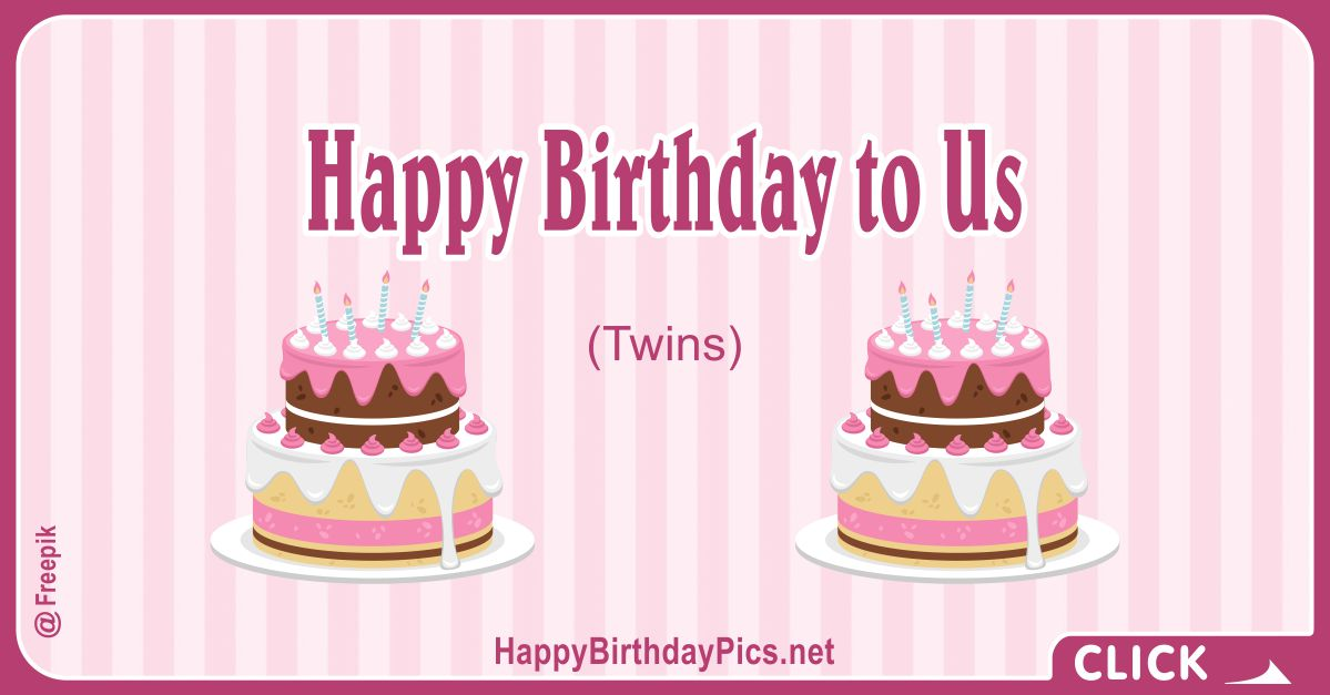 Happy Birthday to Us (Twin Cakes) Card Equivalents
