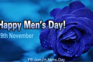 Happy Men's Day with Blue Rose