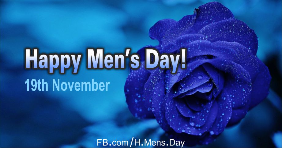 Happy Men's Day with Blue Rose Card Equivalents