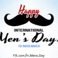 Happy Men's Day with Mustache