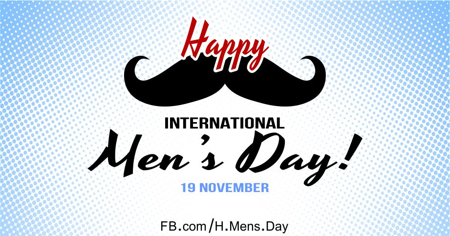 Happy Men's Day with Mustache Card Equivalents