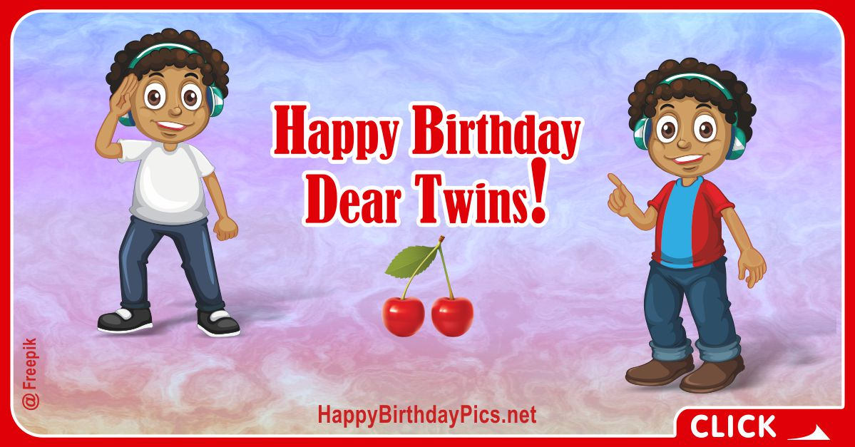 Happy Birthday Twin Boys Card Equivalents