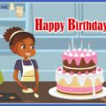 Happy Birthday African American Twins