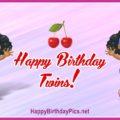 Happy Birthday Cute Twin Girls