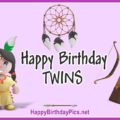 Happy Birthday Native American Twin Girls