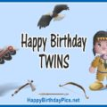 Happy Birthday Native American Twin Boys