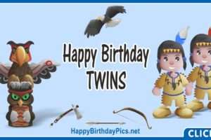 Happy Birthday Native American Twin Boys