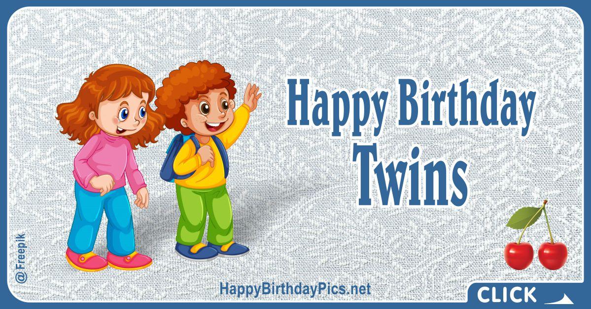 Happy Birthday Dear Twins Card Equivalents