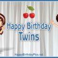 Happy Birthday Twin Siblings