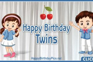 Happy Birthday Twin Siblings